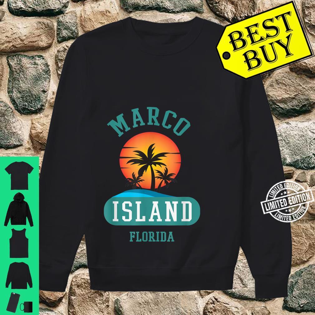 Unique Retro Marco Island Florida Beaches Sunset Novelty Shirt sweater