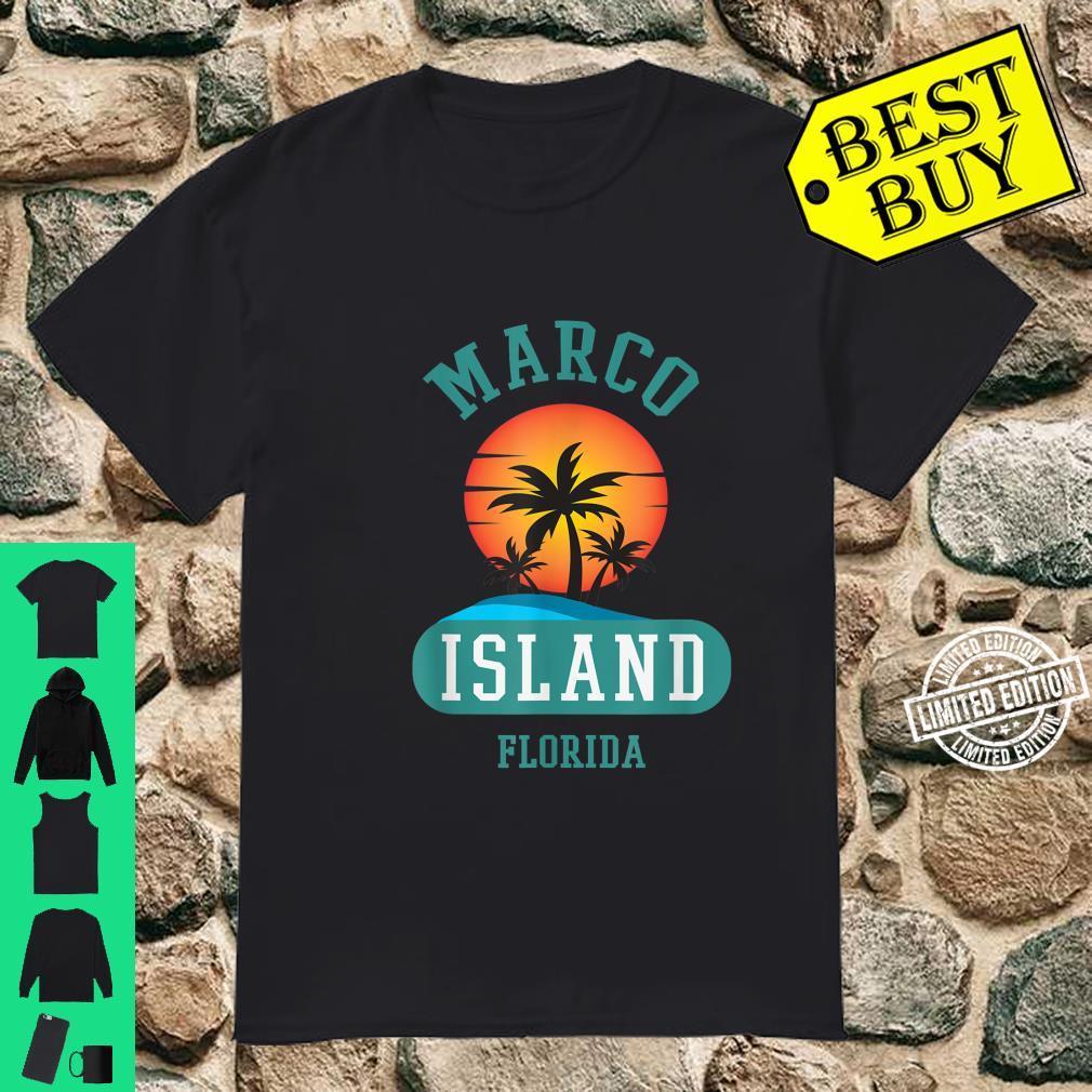 Unique Retro Marco Island Florida Beaches Sunset Novelty Shirt