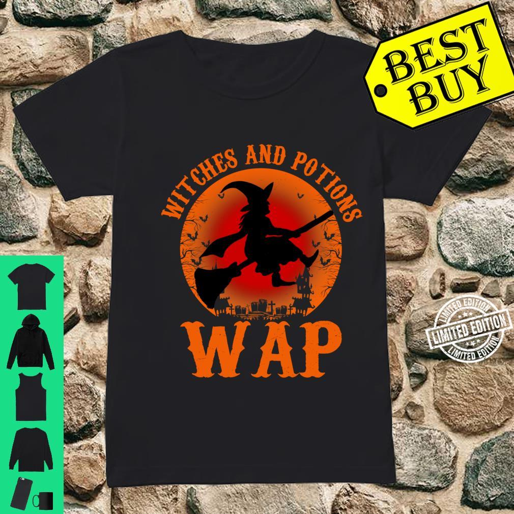 WAP Witches And Potions Retro Halloween Witch Party Costume Shirt ladies tee