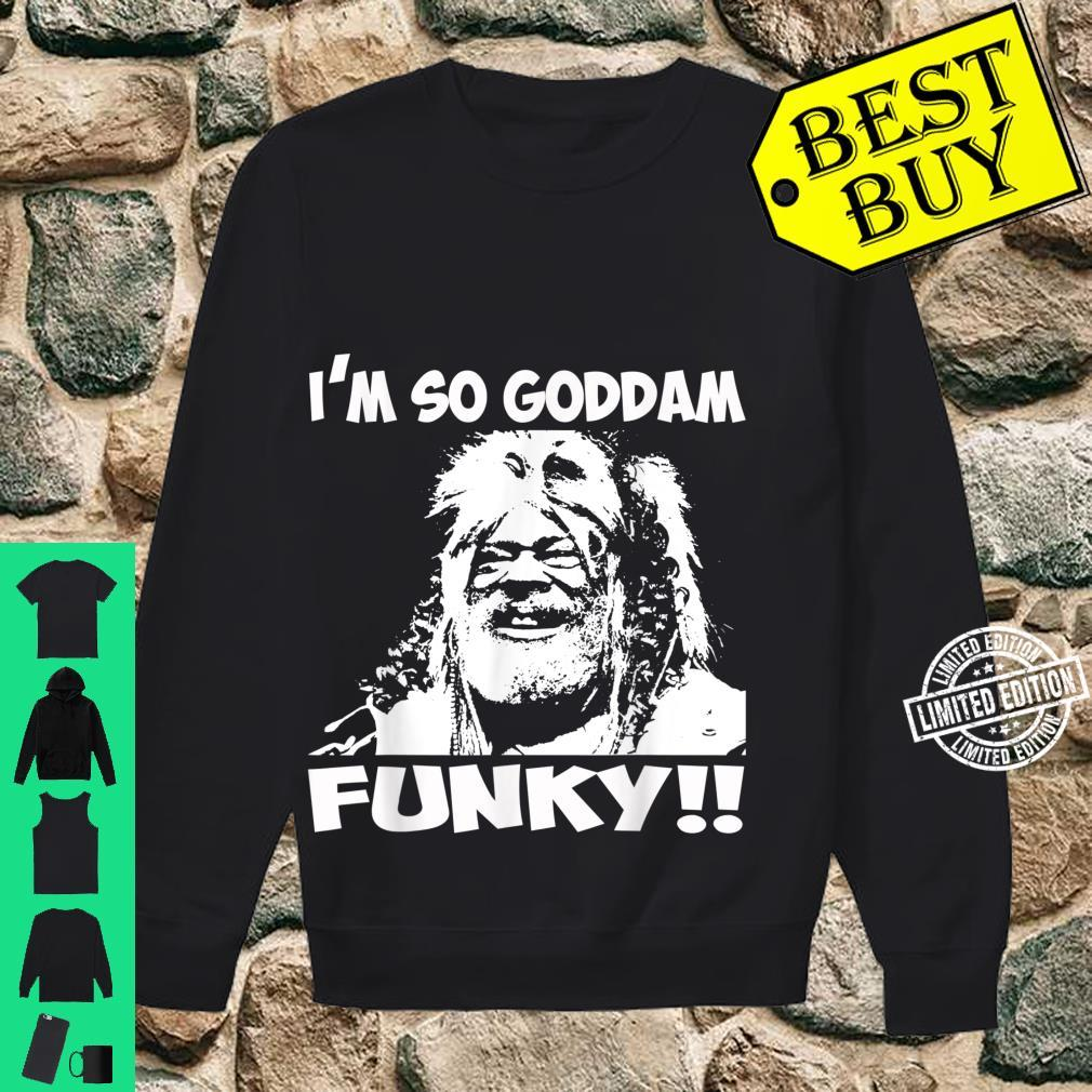 White and Black George Idol Clinton Music Retro Arts Funky Shirt sweater