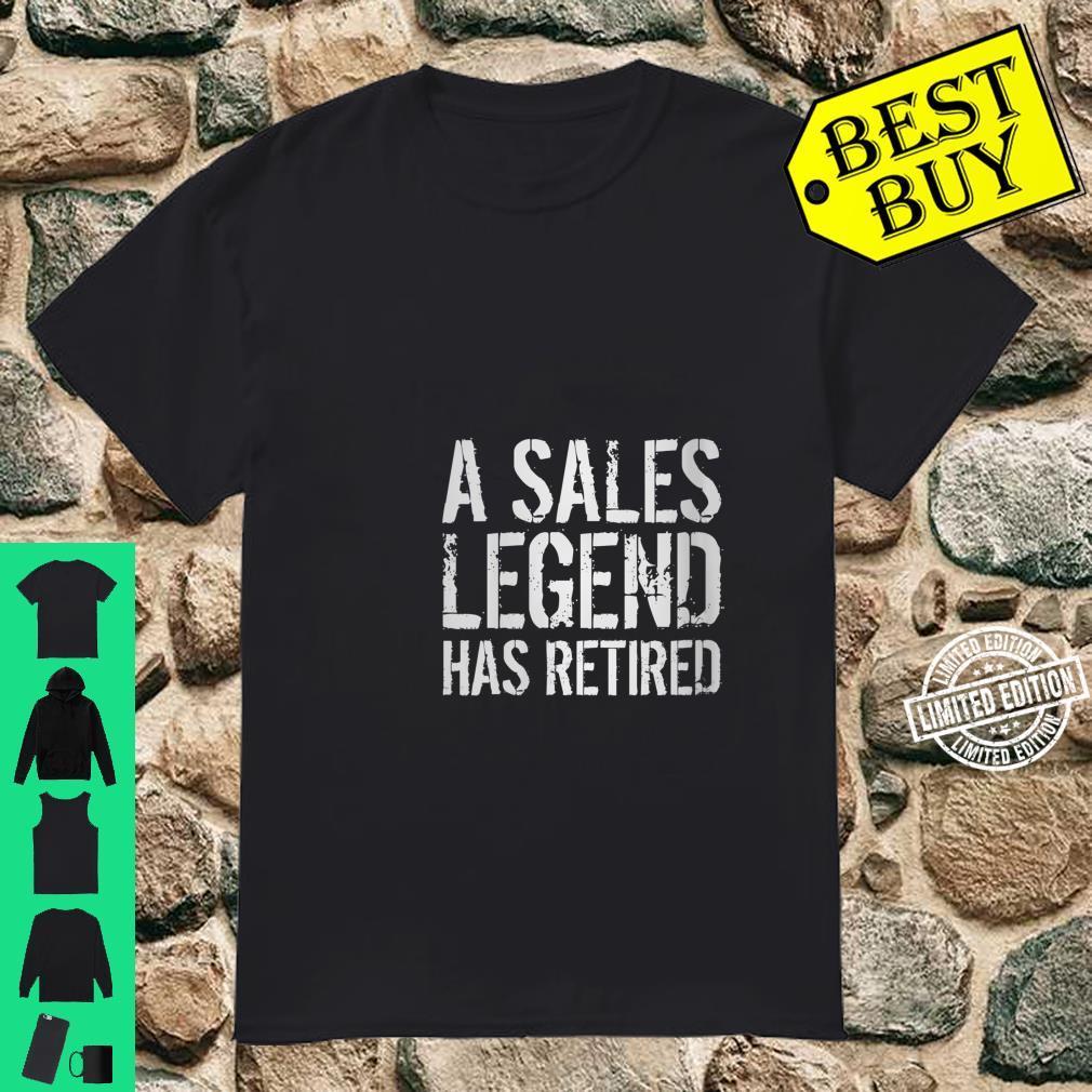Womens A Sales Legend Has Retired Salesman Retirement Idea Shirt