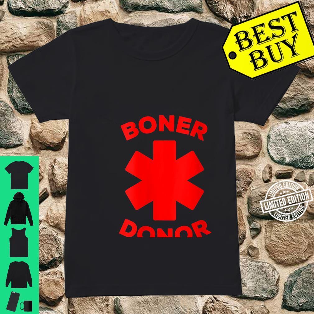 Womens Boner Donor Halloween Costume Shirt ladies tee