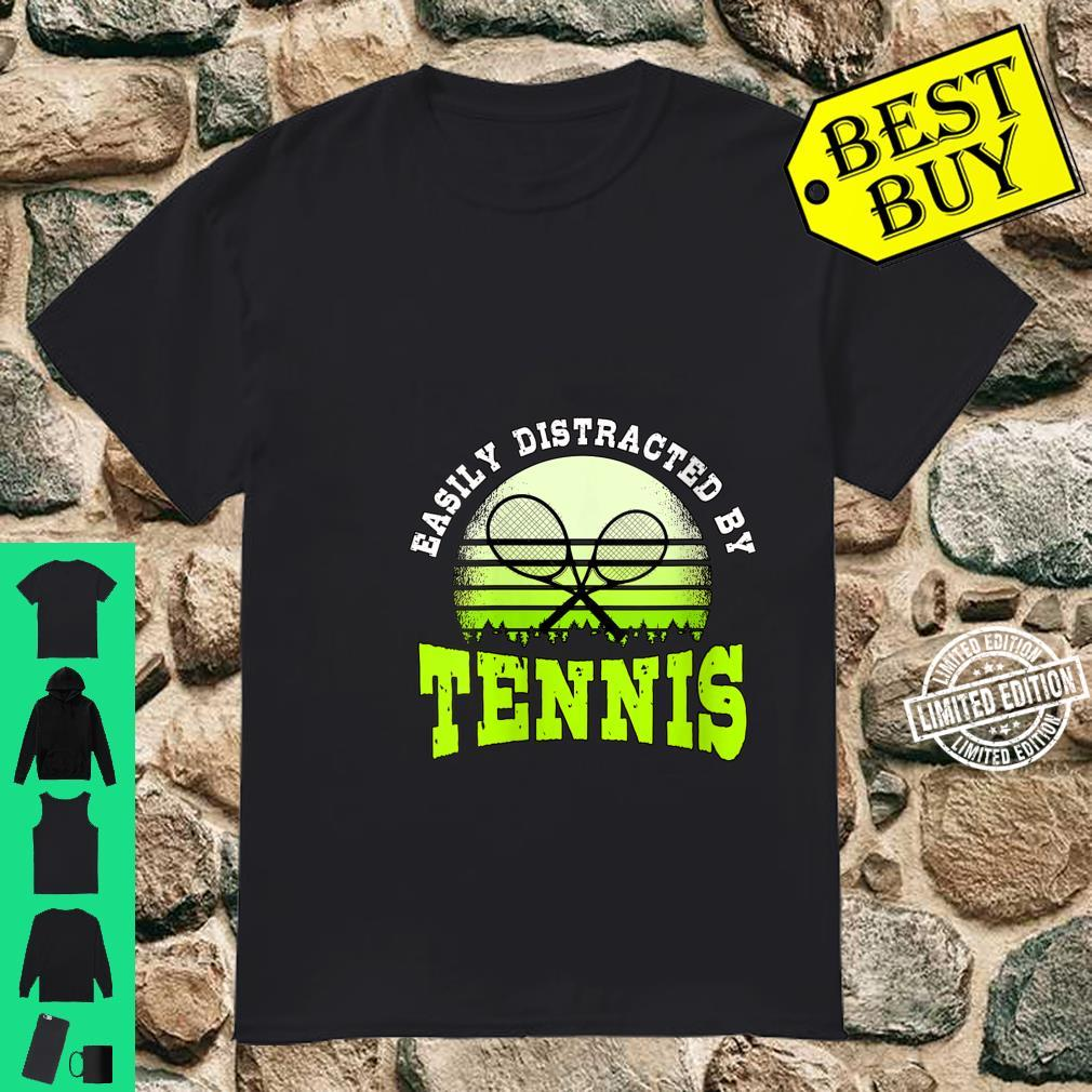 Womens Easily Distracted By Tennis Coach Player Tennis Shirt
