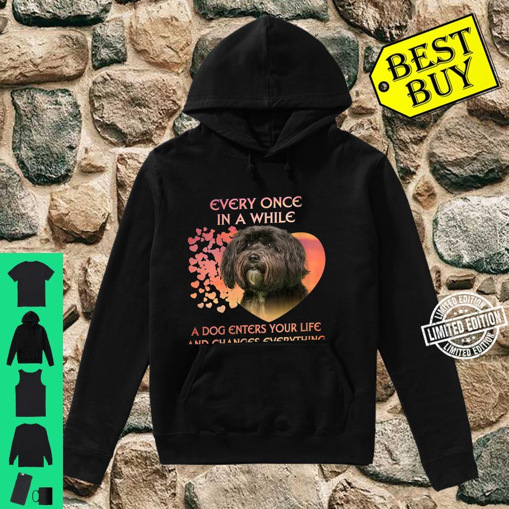 Womens Every Once In A While A Dog Enters Your Life Tibetan Terrie Shirt hoodie