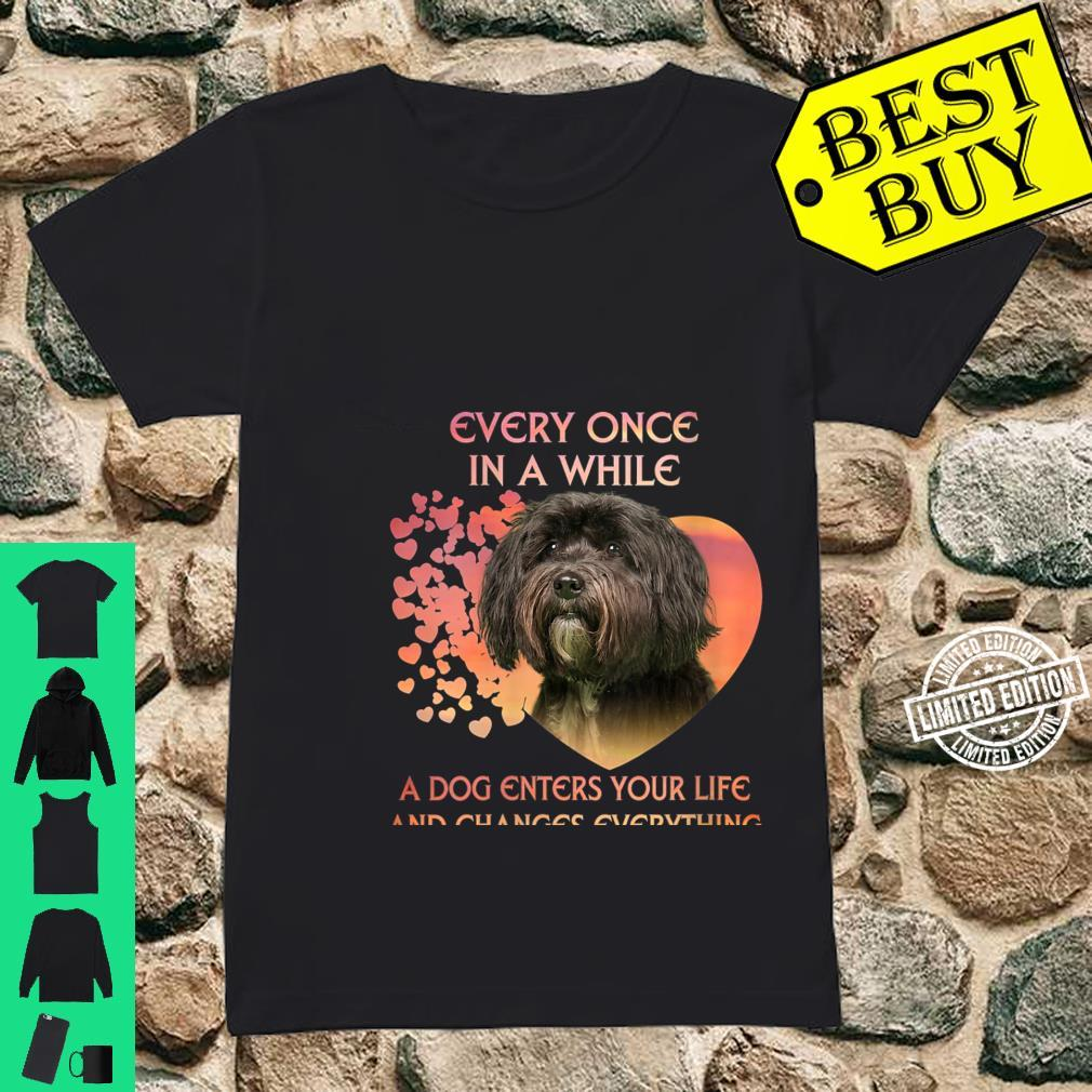 Womens Every Once In A While A Dog Enters Your Life Tibetan Terrie Shirt ladies tee