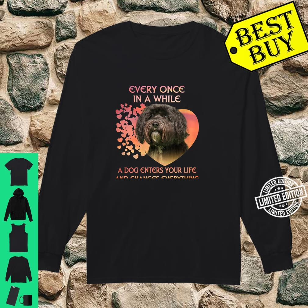 Womens Every Once In A While A Dog Enters Your Life Tibetan Terrie Shirt long sleeved