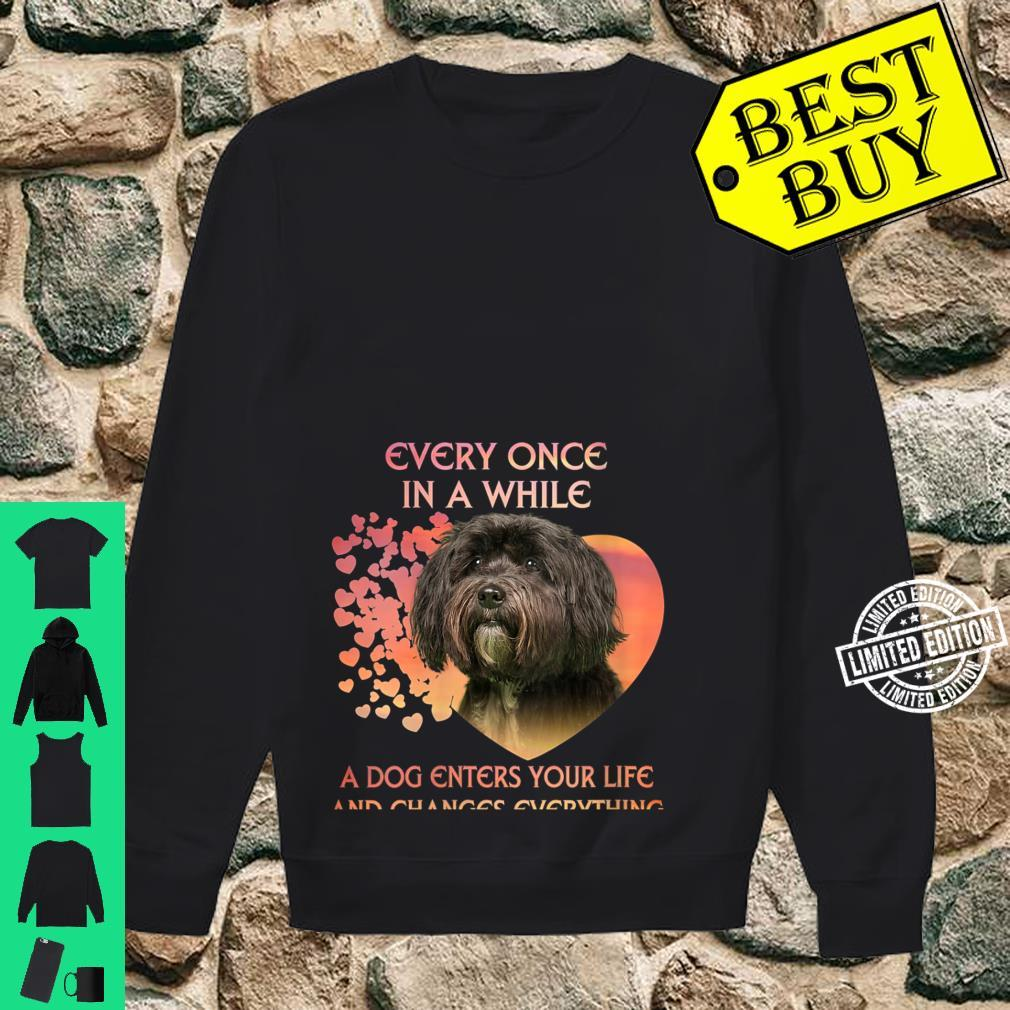 Womens Every Once In A While A Dog Enters Your Life Tibetan Terrie Shirt sweater