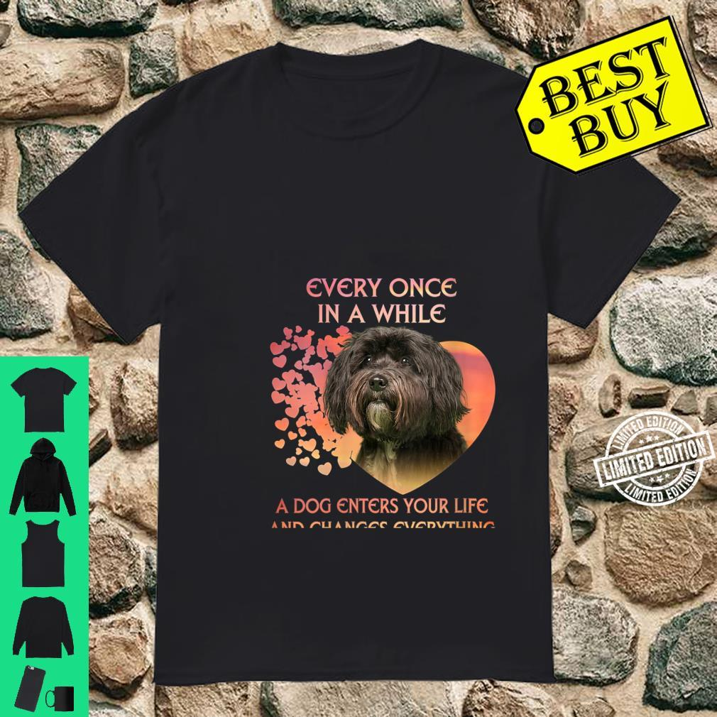 Womens Every Once In A While A Dog Enters Your Life Tibetan Terrie Shirt