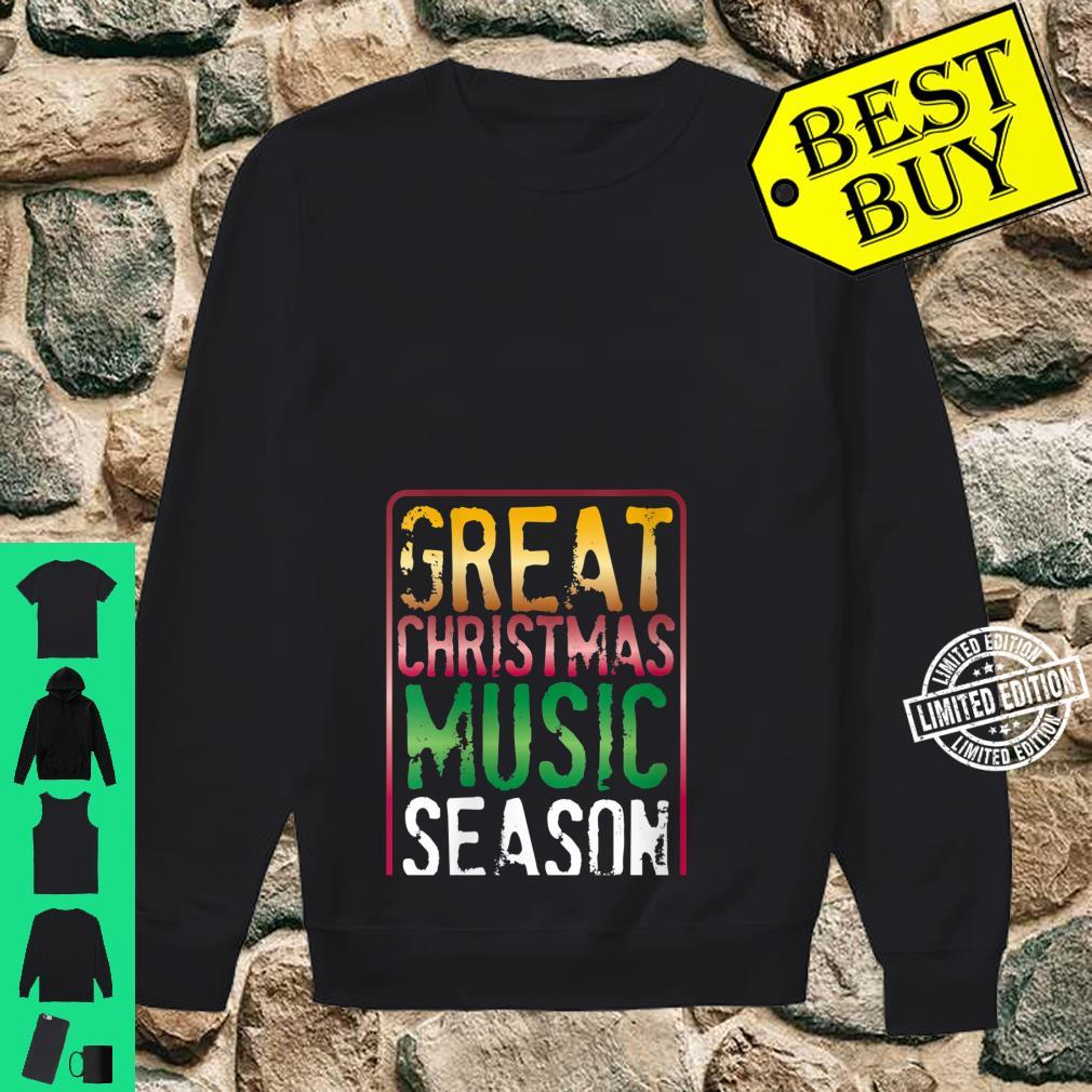 Womens Great Christmas Music Season Yule Log Burning Holiday Sounds Shirt sweater