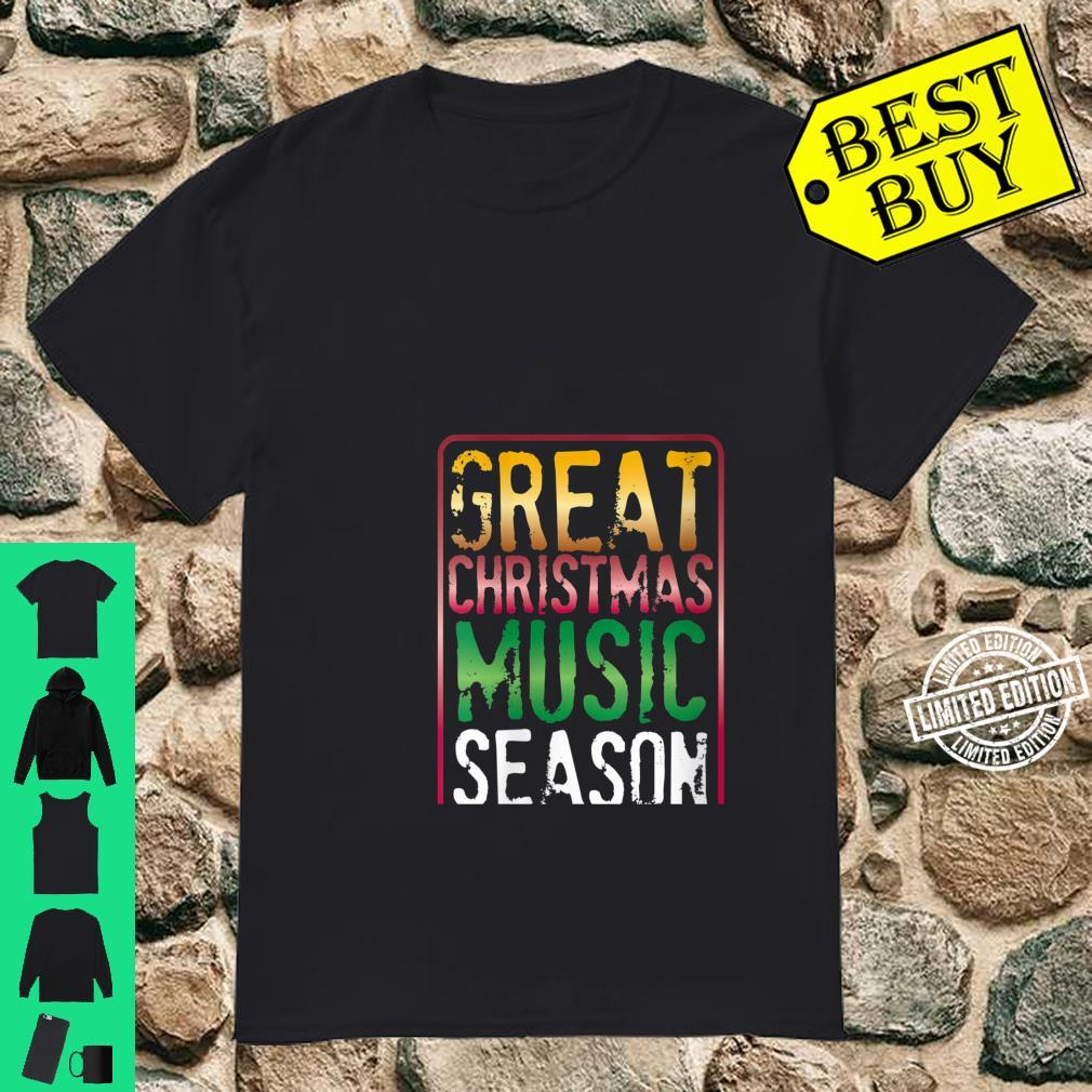Womens Great Christmas Music Season Yule Log Burning Holiday Sounds Shirt