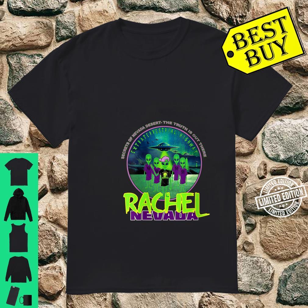 Womens Rachel Nevada Extraterrestrial Highway Alien Secret Area 51 Shirt