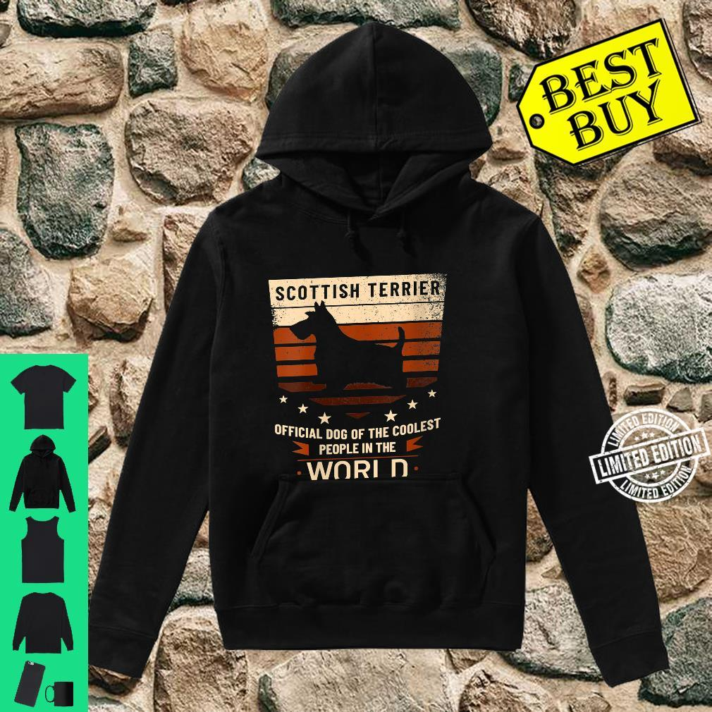 Womens Scottish Terrier Official Dog Of The Coolest People Shirt hoodie