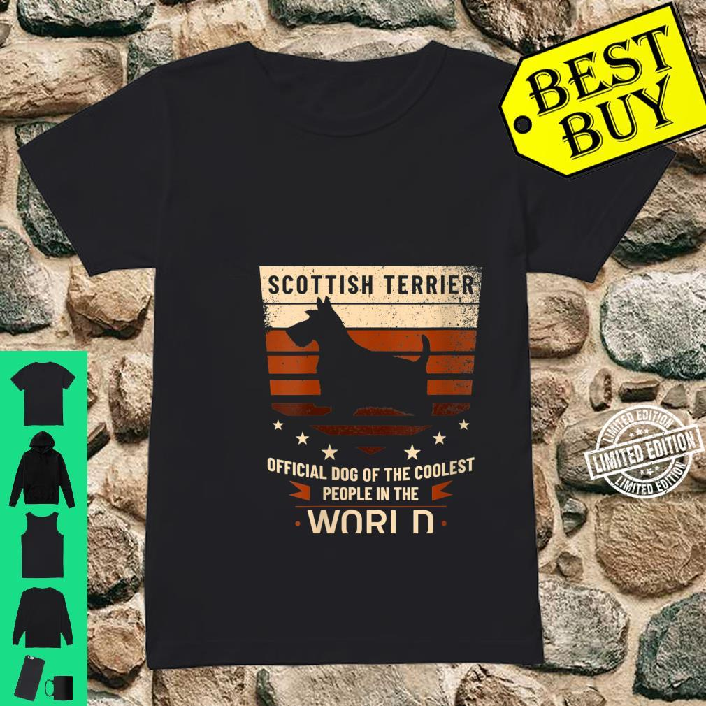 Womens Scottish Terrier Official Dog Of The Coolest People Shirt ladies tee