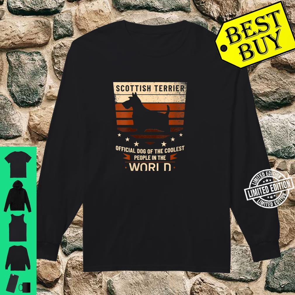 Womens Scottish Terrier Official Dog Of The Coolest People Shirt long sleeved