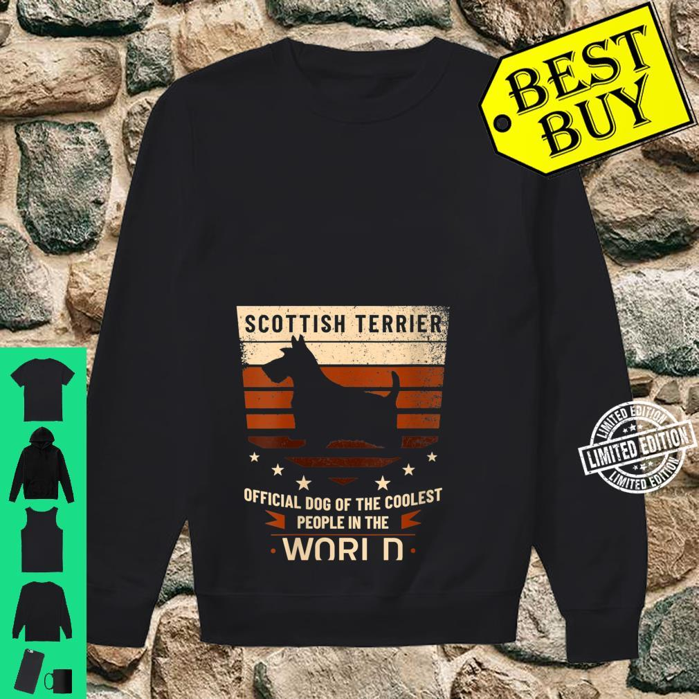 Womens Scottish Terrier Official Dog Of The Coolest People Shirt sweater