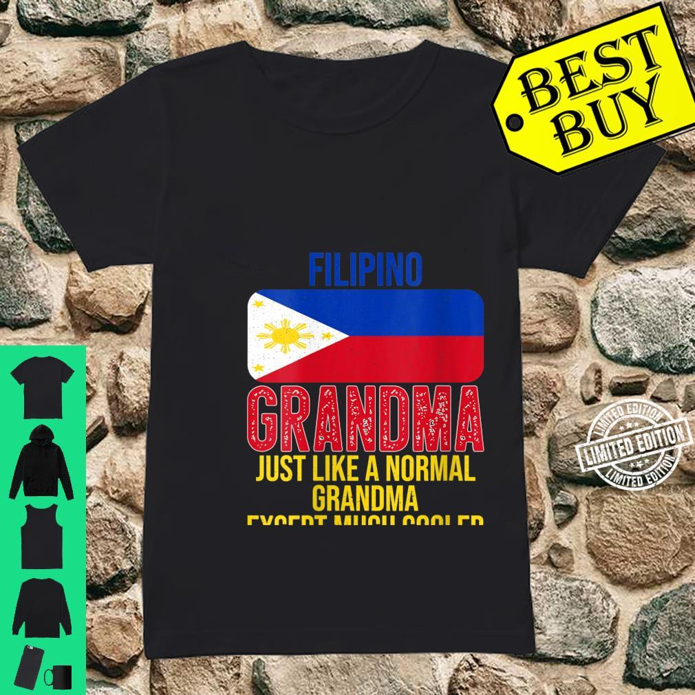 Womens Vintage Filipino Grandma Philippines Flag for Mother's Day Shirt ladies tee