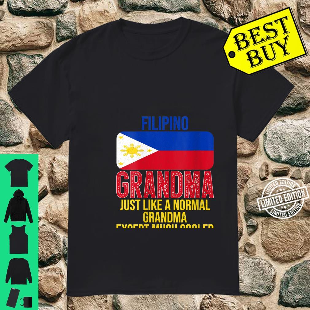 Womens Vintage Filipino Grandma Philippines Flag for Mother's Day Shirt